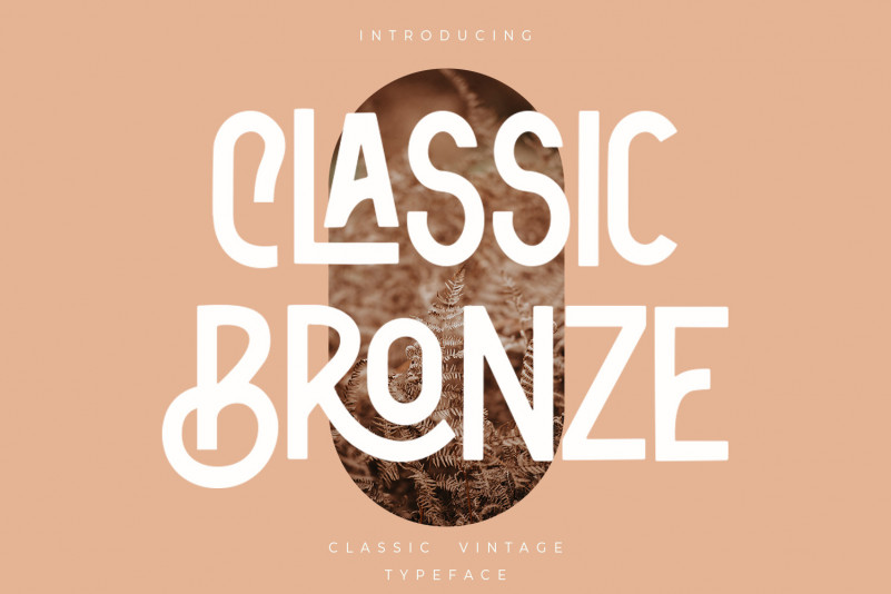 Classic Bronze Display Font