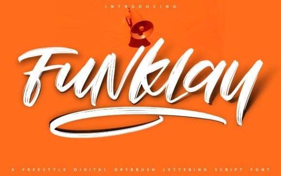 Funklay Brush Font