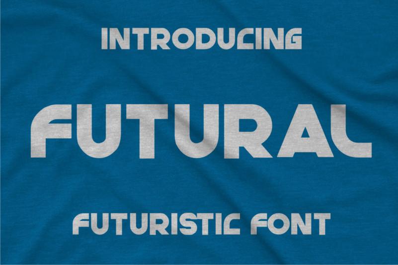 Futural Display Font