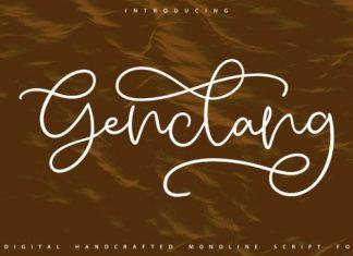 Genclang Script Font