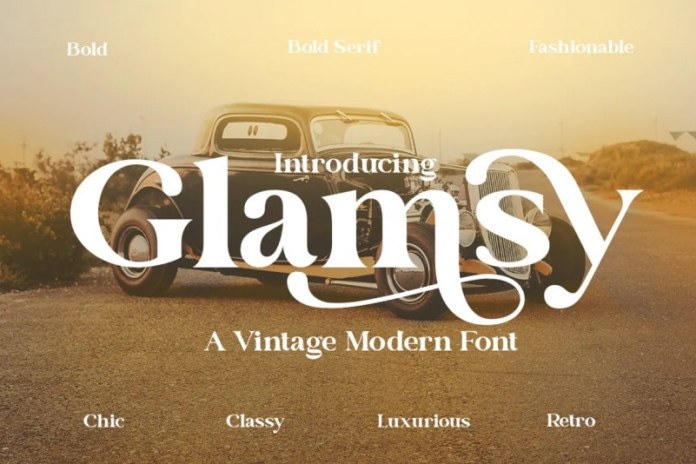 Glamsy Serif Font