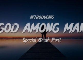God Among Man Brush Font