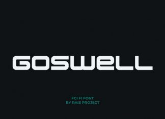 Goswell Display Font
