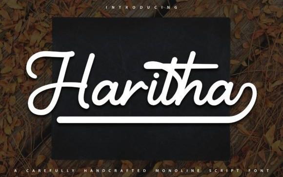 Haritha Script Font