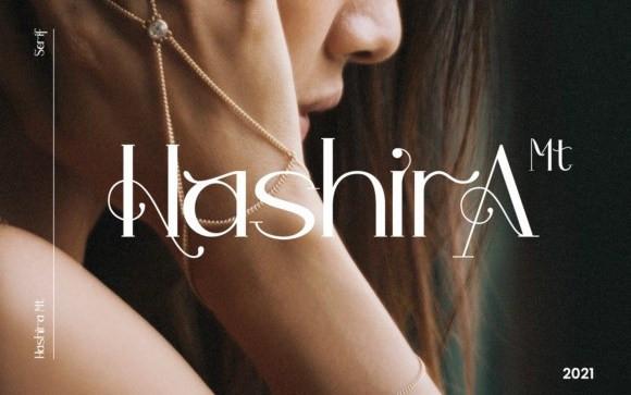Hashira MT Serif Font