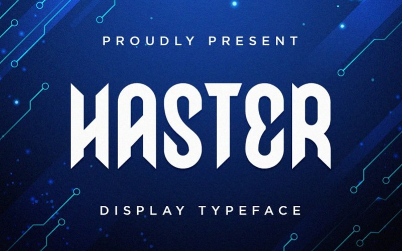 Haster Display Font