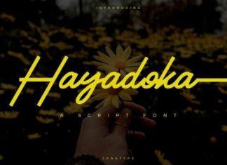 Hayadoka Script Font