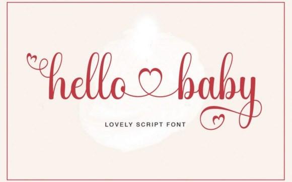 Hello Baby Script Font