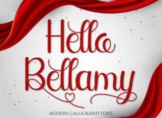 Hello Bellamy Calligraphy Font