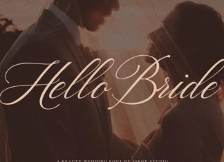 Hello Bride Calligraphy Font