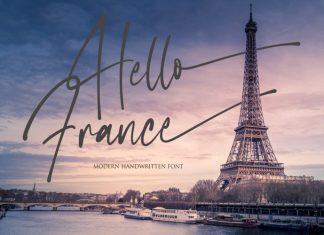 Hello France Script Font