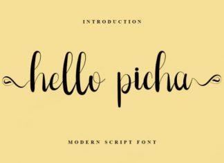 Hello Picha Script Font