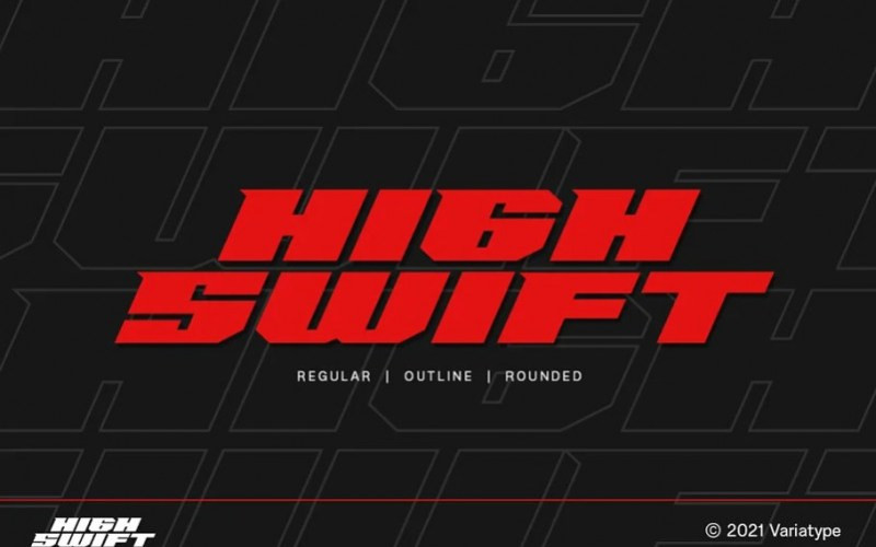 High Swift Display Font