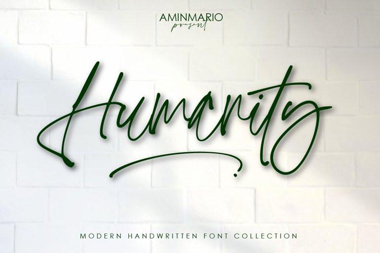 Humanity Script Font