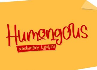 Humongous Script Font