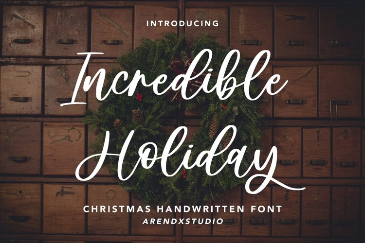 Incredible Holiday Script Font