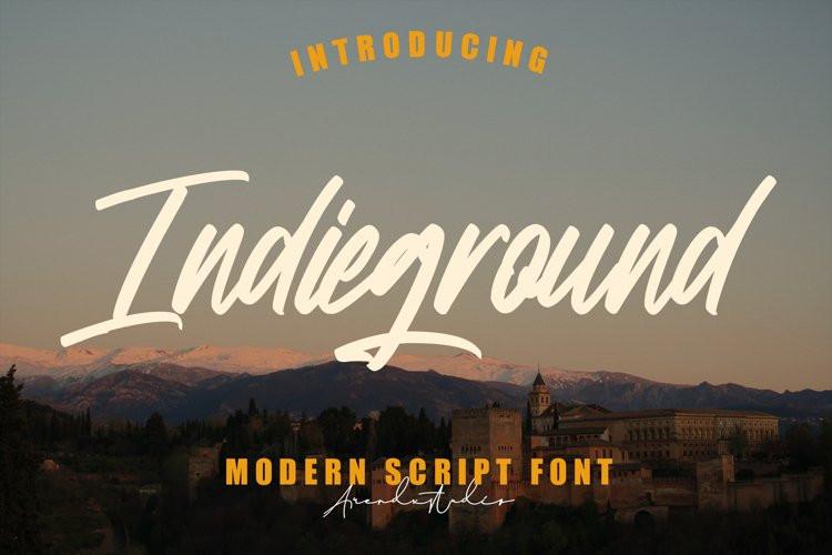 Indieground Script Font