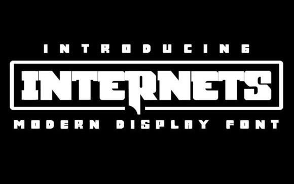 Internets Display Font
