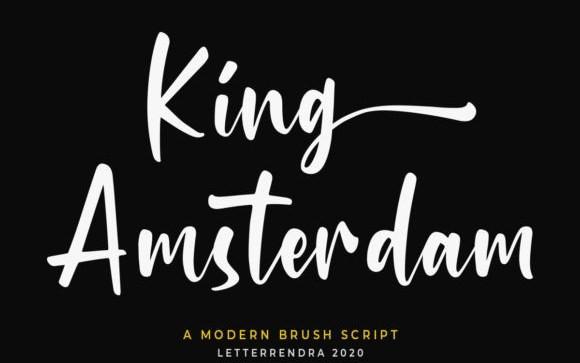 King Amsterdam Script Font