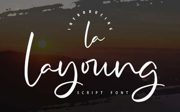 Lalayoung Script Font
