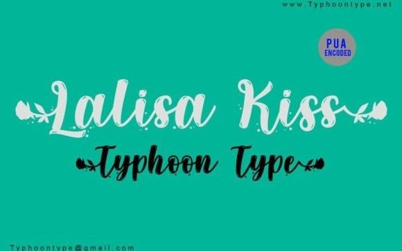 Lalisa Kiss Script Font