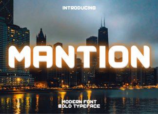 Mantion Display Font