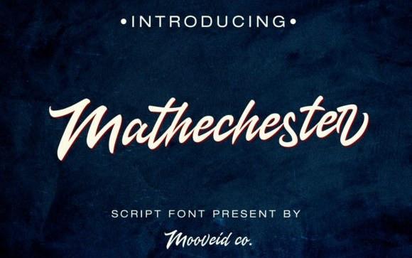 Mathechester Script Font