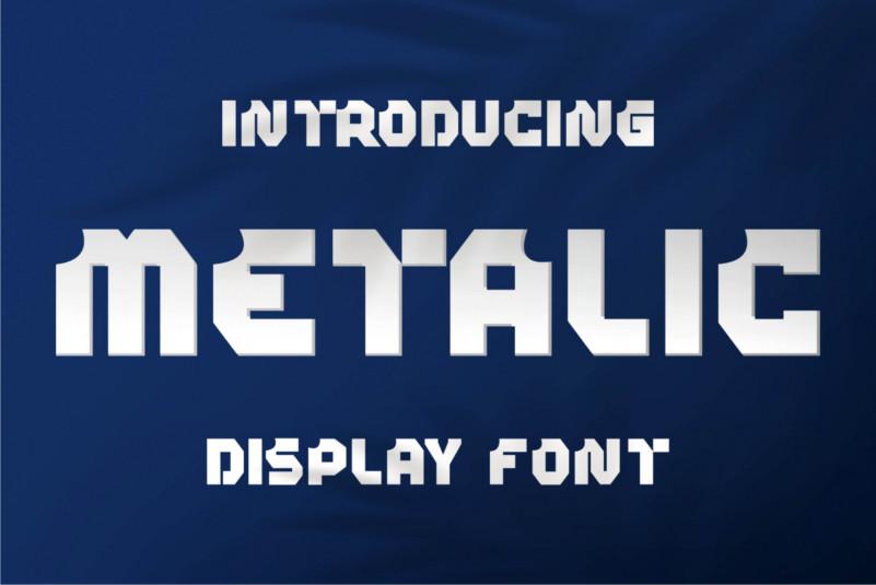 Metalic Display Font