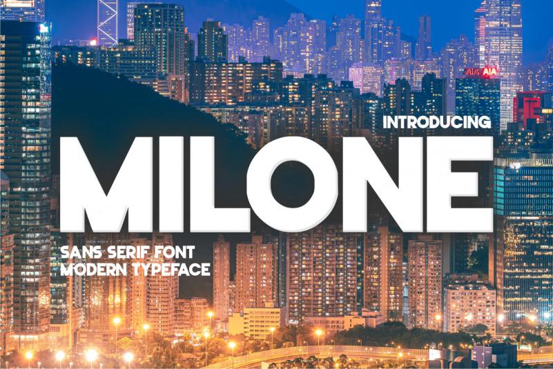 Milone Sans Serif Font