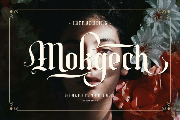 Mokgech Blackletter Font