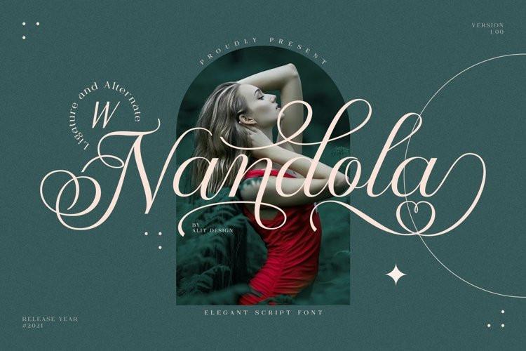 Nandola Calligraphy Font