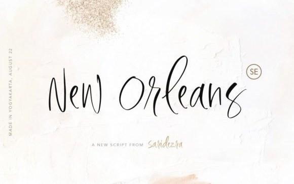 New Orleans Script Font