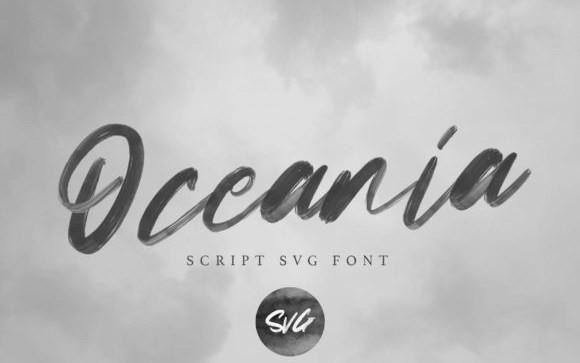 Oceania Brush Font