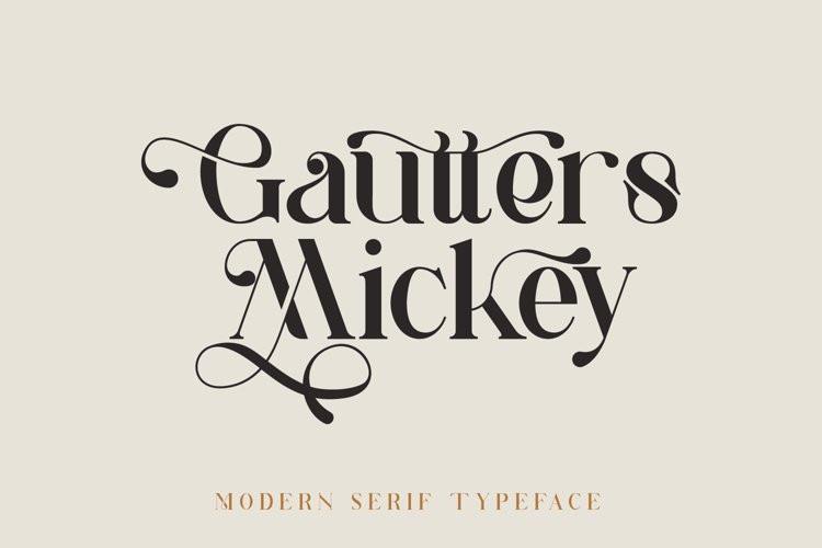 Gautters Mickey Sans Serif Font