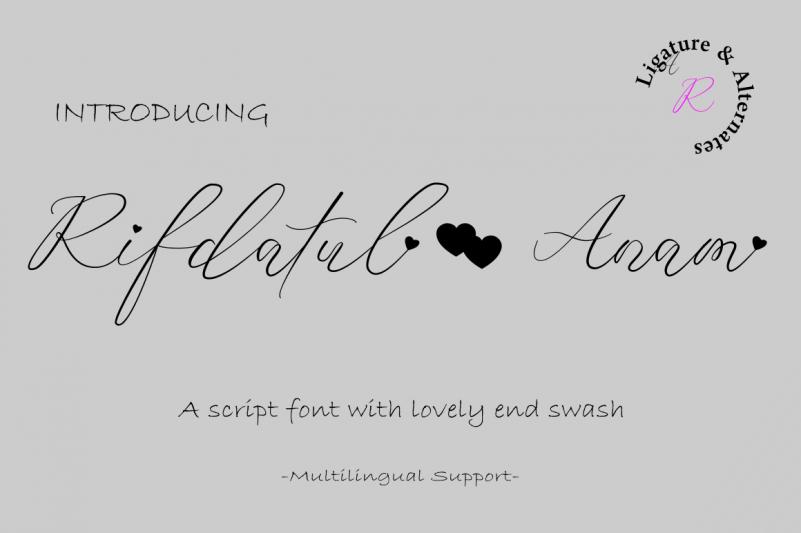 Rifdatul Anam Script Font