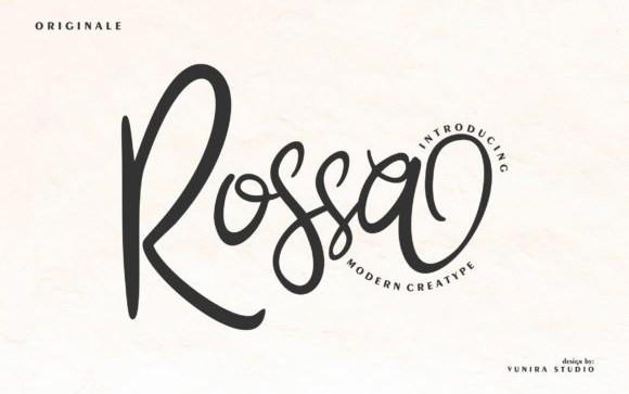 Rossa Script Font