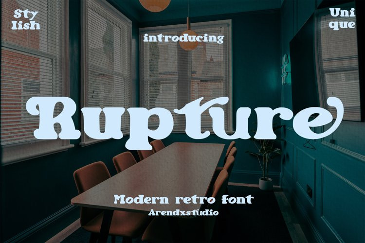 Rupture Serif Font