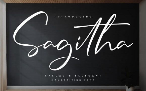 Sagitha Script Font