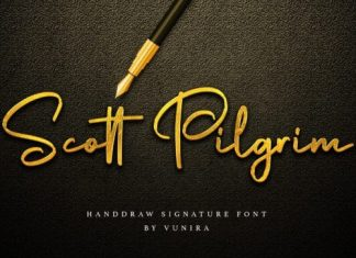 Scott Pilgrim Script Font