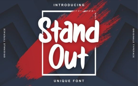 Stand Out Brush Font