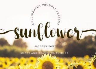 Sunflower Calligraphy Font