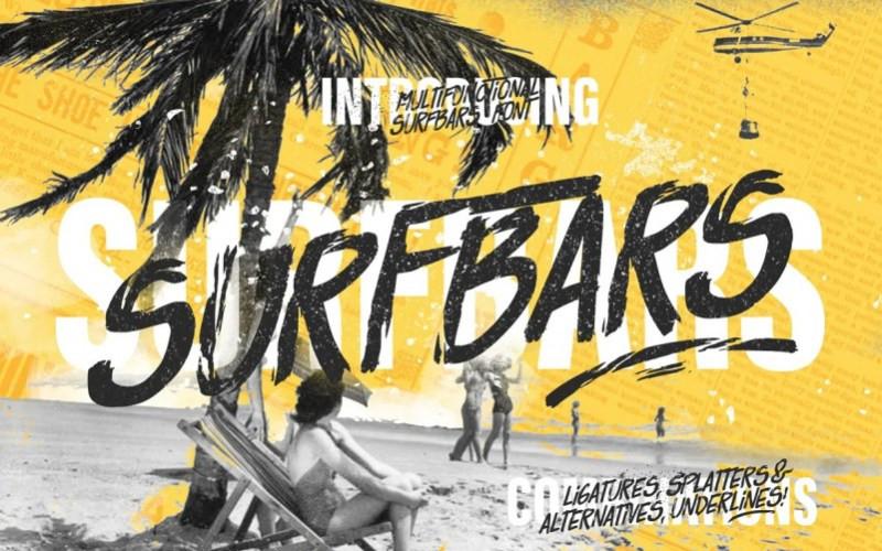 Surfbars Brush Font