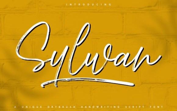 Sylwan Brush Font