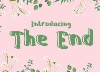 The End Display Font