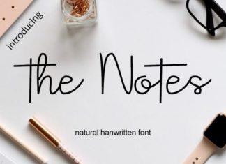 The Notes Handwritten Font