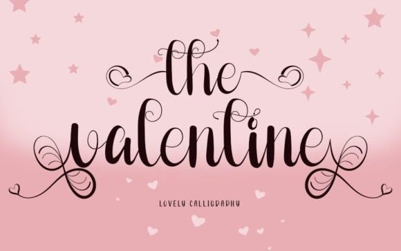 The Valentine Calligraphy Font