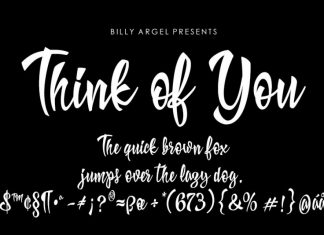 Think of You Script Font