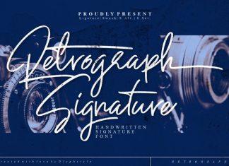 Retrograph Handwritten Font