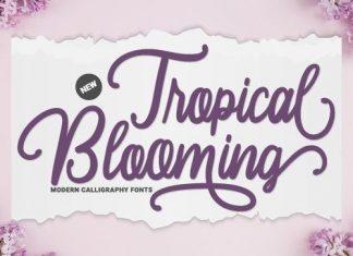 Tropical Blooming Script Font