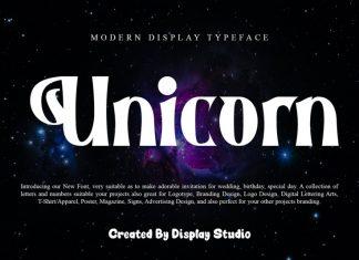 Unicorn Display Font